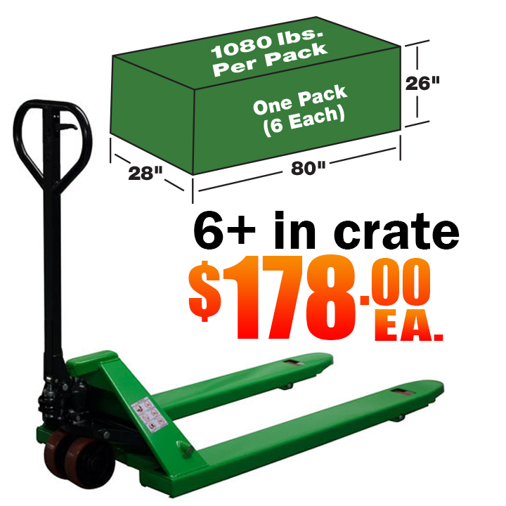 Pallet Jacks by the Crate