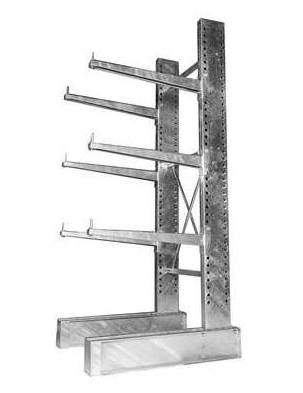Red Steel Cantilever Rack